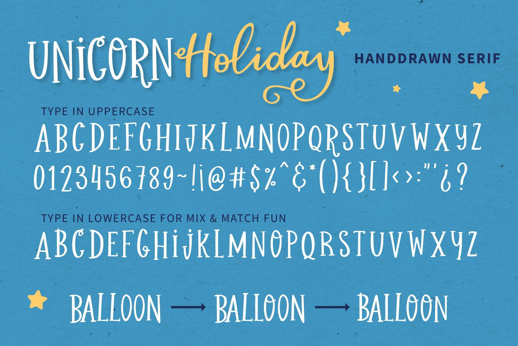 Unicorn Holiday Font Duo example image 5