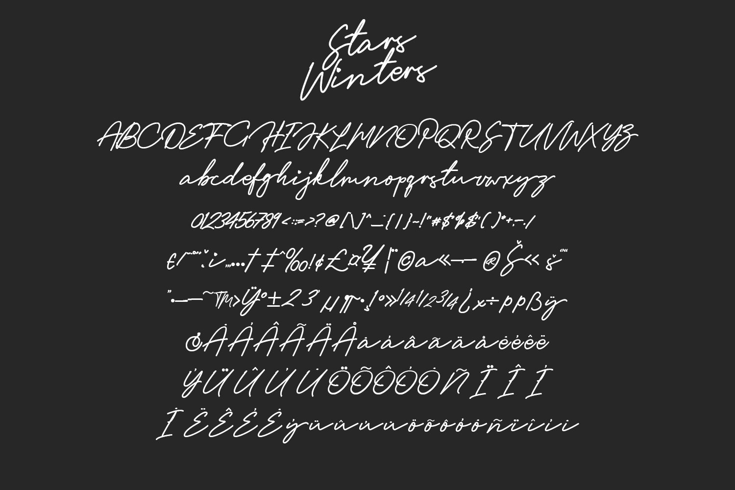 Stars Winters Typeface example image 2