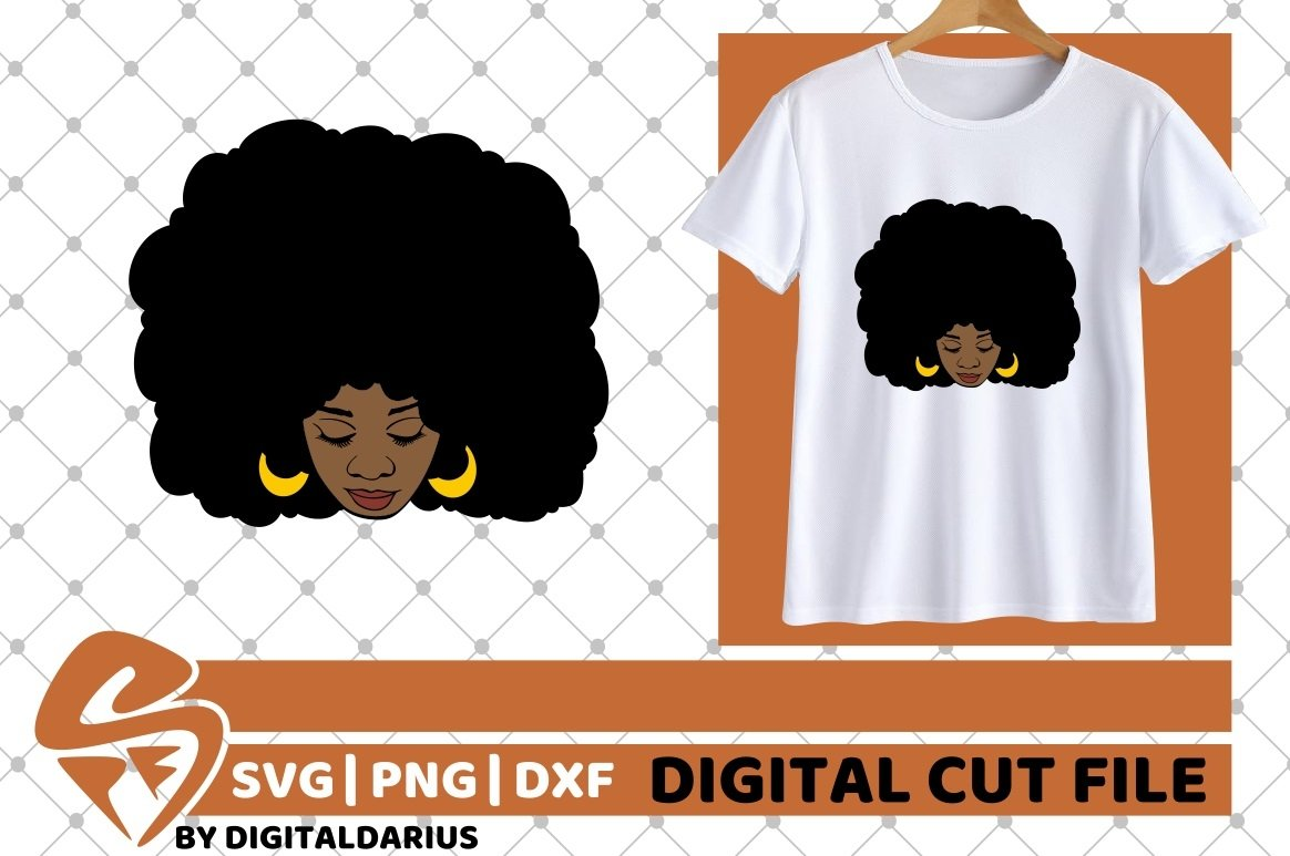 Black Woman svg, Natural Hair svg, Melanin svg, Afro Queen example image 2