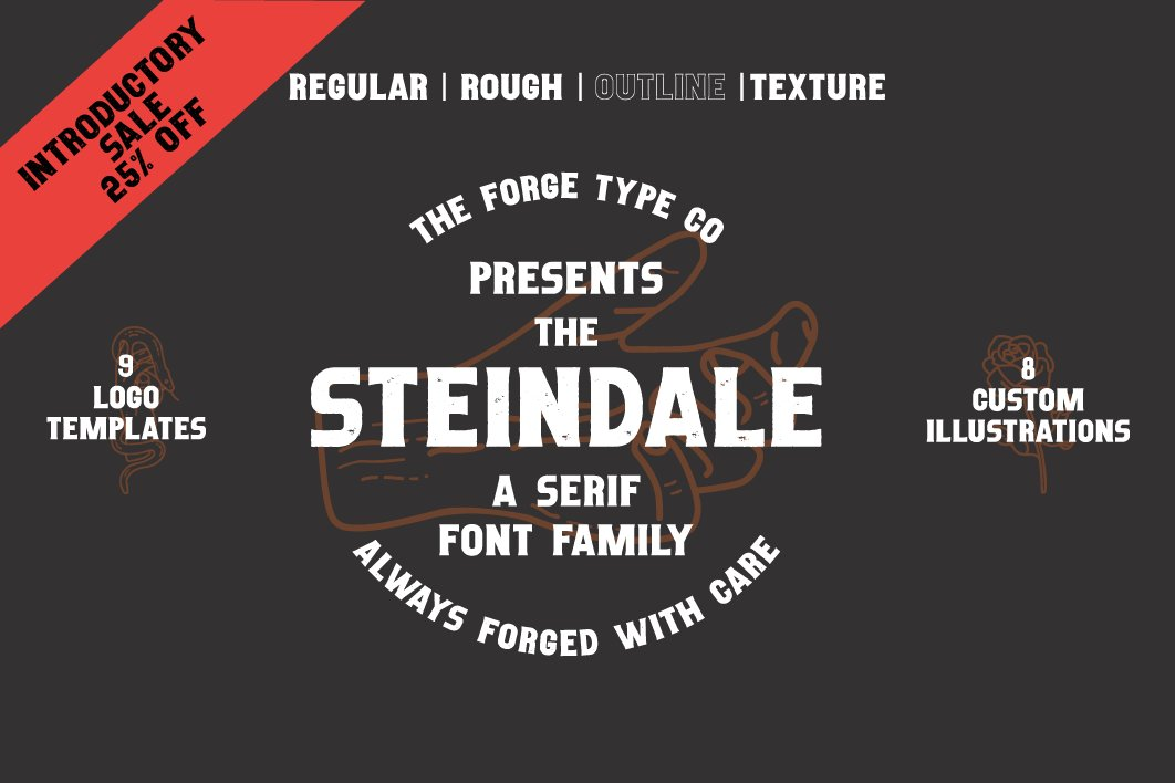 Steindale - Vintage Texture Font example image 1