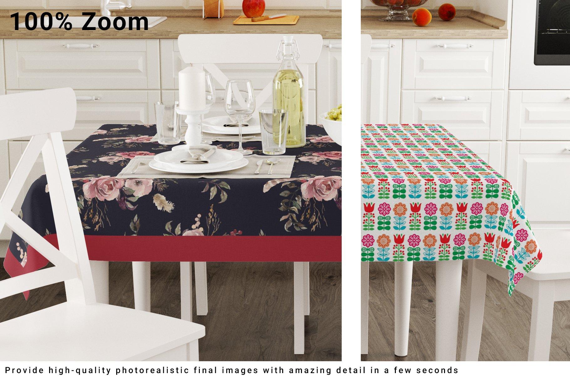Kitchen Tablecloth 3D Mockup Set example image 7