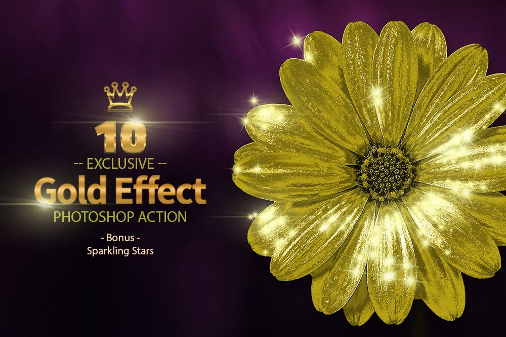 10 Gold & Sparkling Stars example image 5