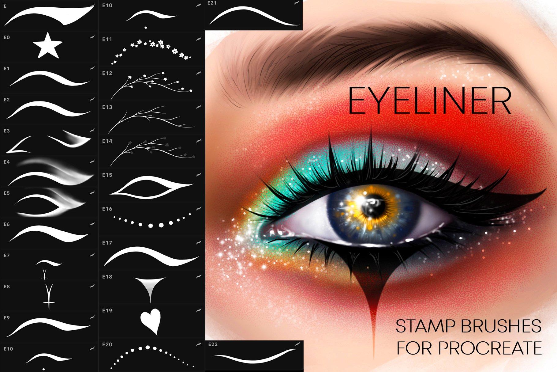 Procreate Eyeliner brushes Makeup example image 1