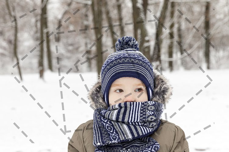Boy in winter, close up example image 1