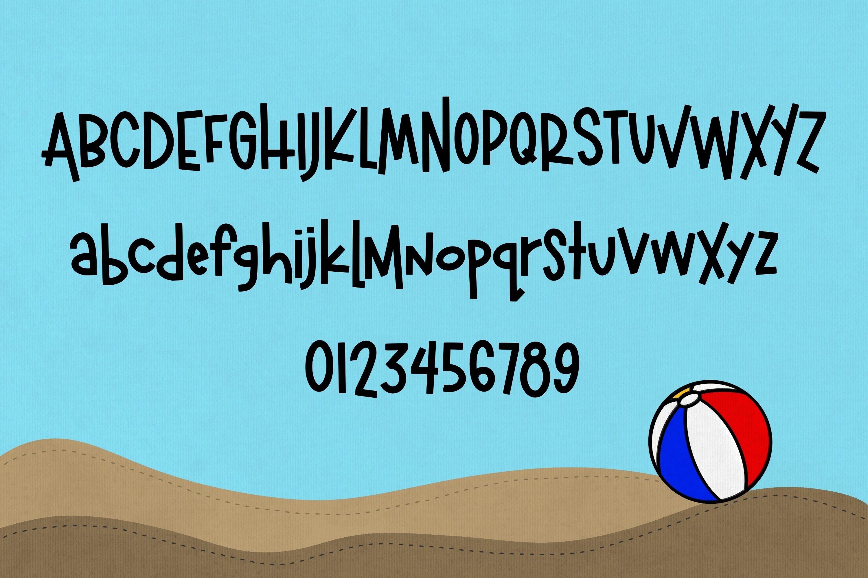 Beachball a Fun Summer Font example image 2