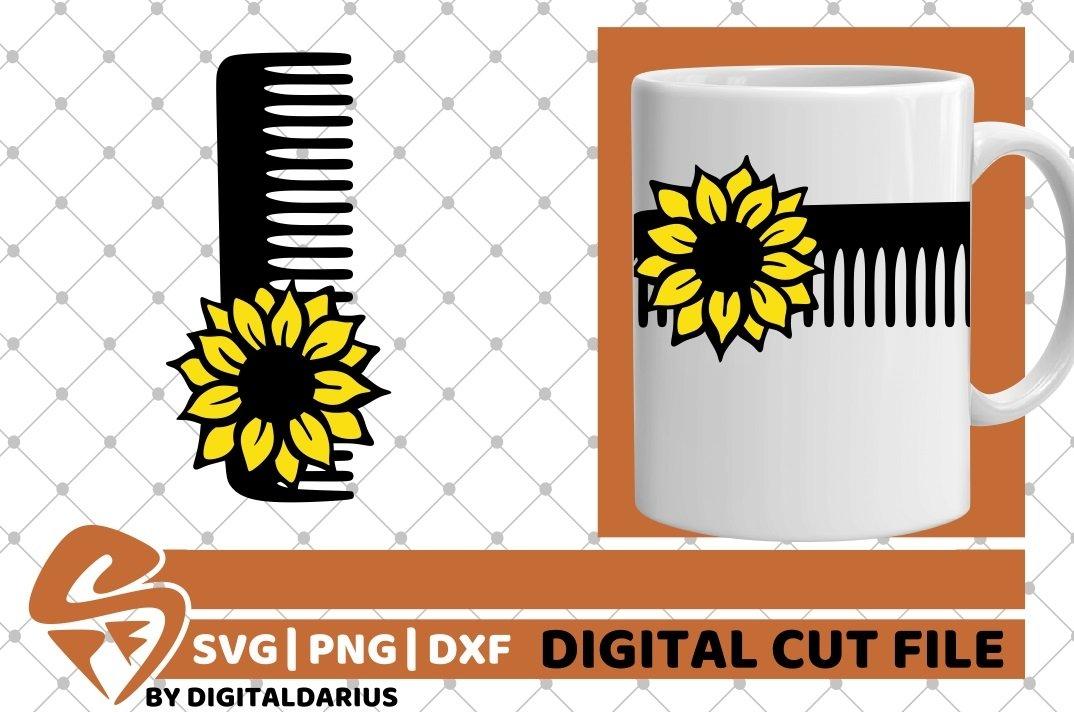 4x Hairdresser Designs Bundle svg, Hairstylist, Sunflower example image 3