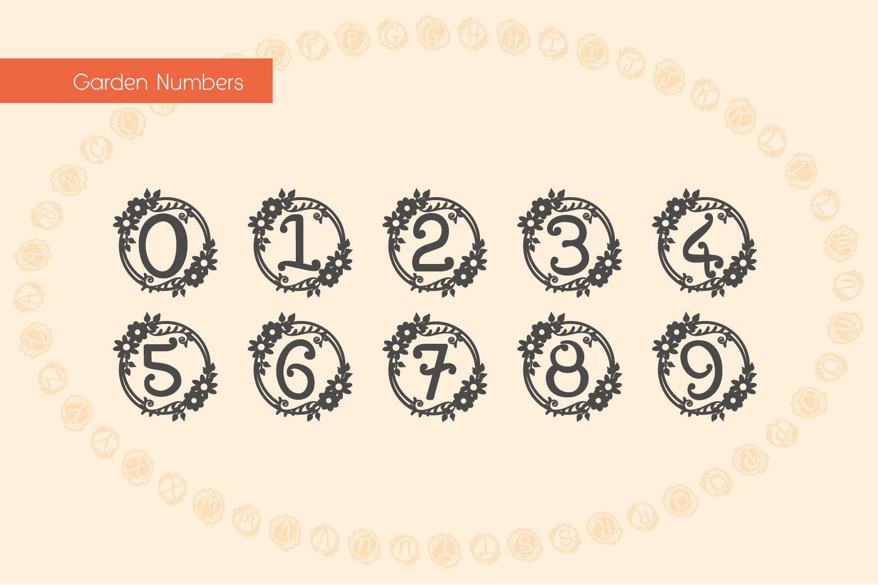 Garden Monograms - Font example image 8