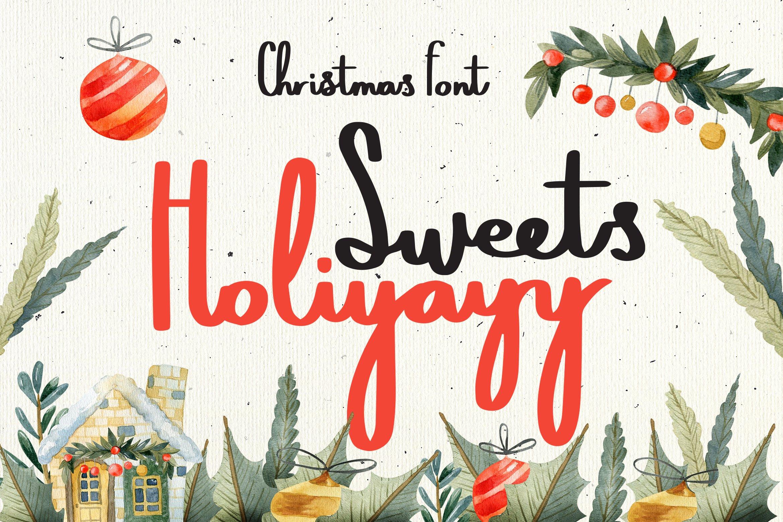 Sweets Holiyayy - Christmas Font example image 1