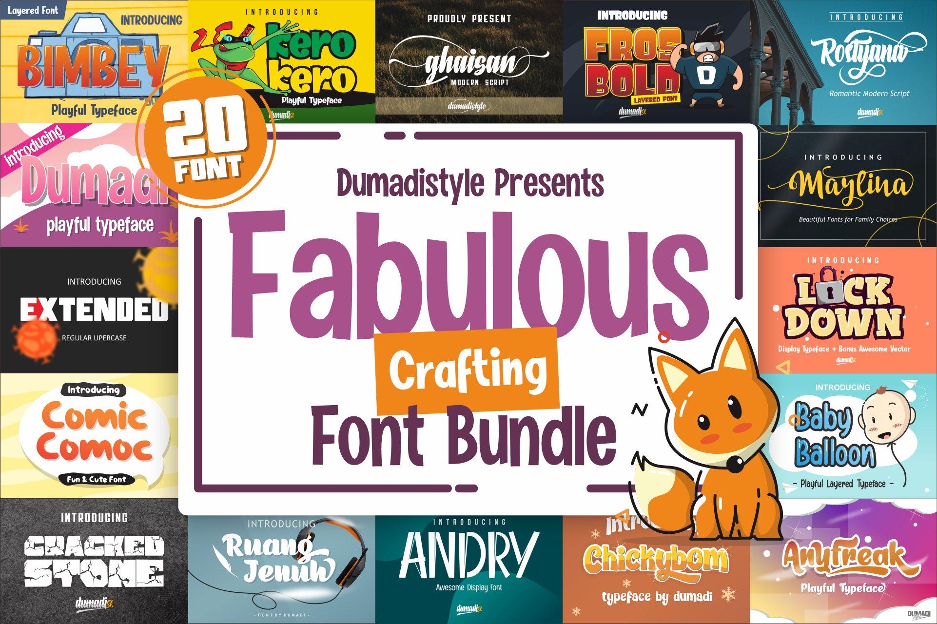 Fabulous Crafting Font Bundle example image 1