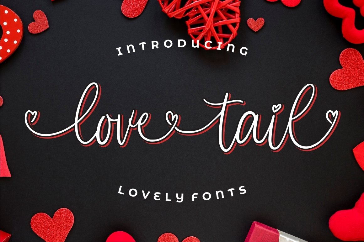 Love Tail | Lovely Font example image 8