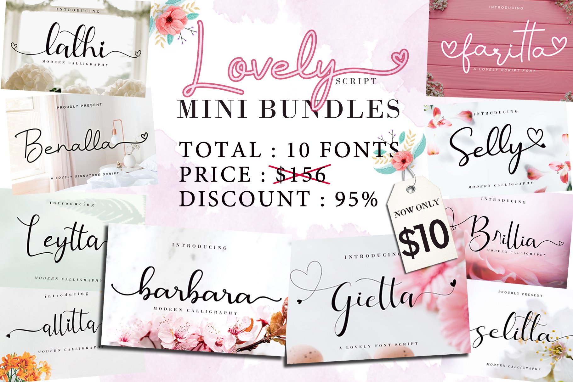 The 10 in 1 Lovely Script Bundle example image 1