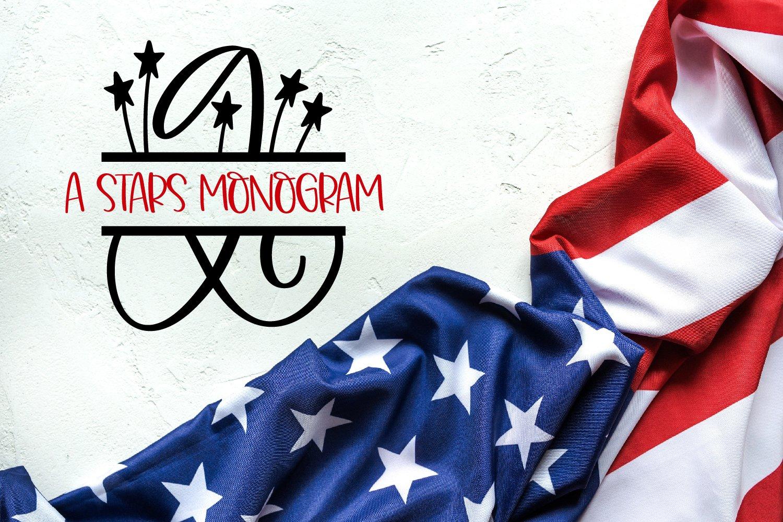 A Stars Split American Monogram Font example image 5