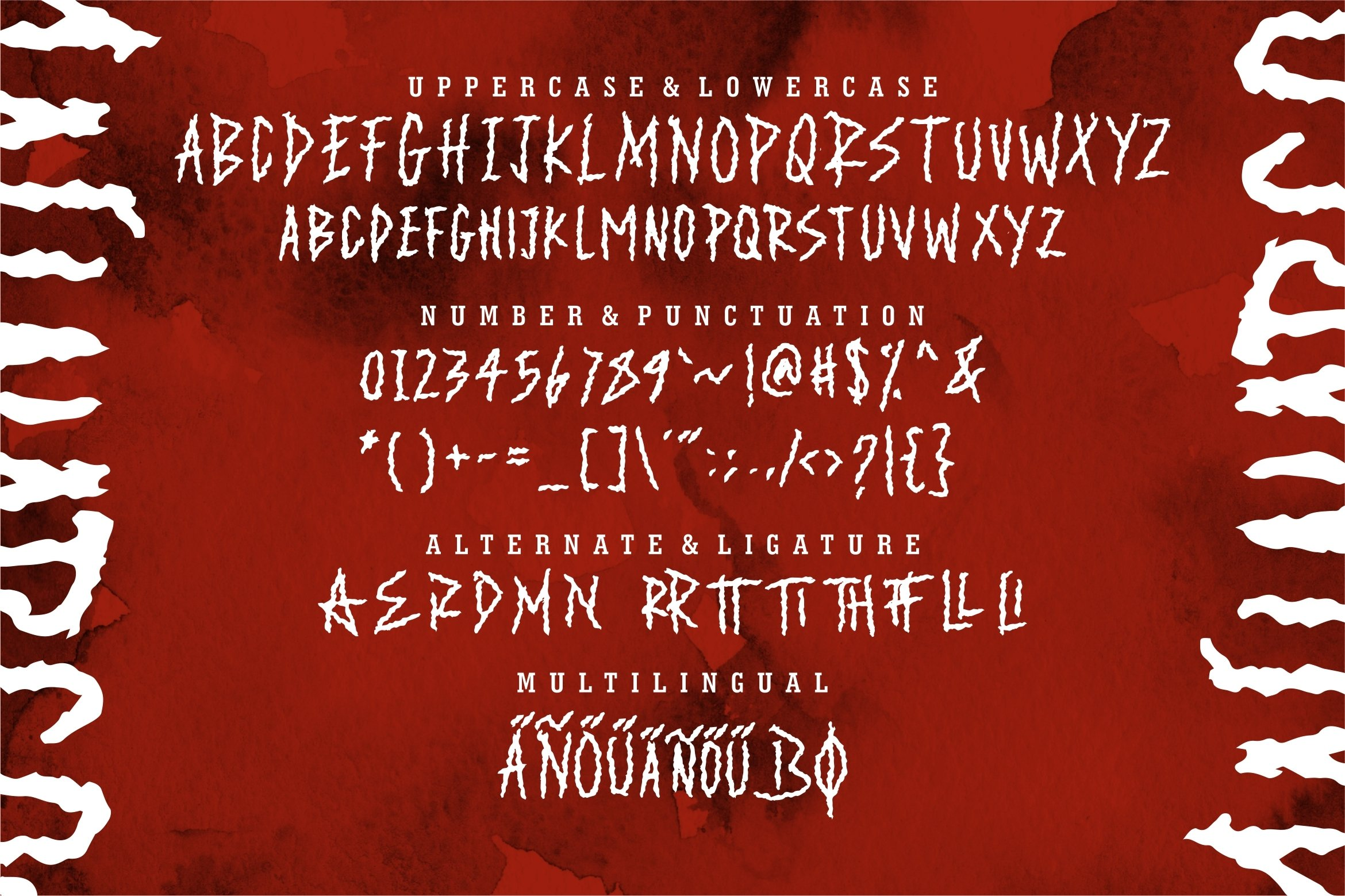 Malinarcos - The Scary Brush Font example image 5