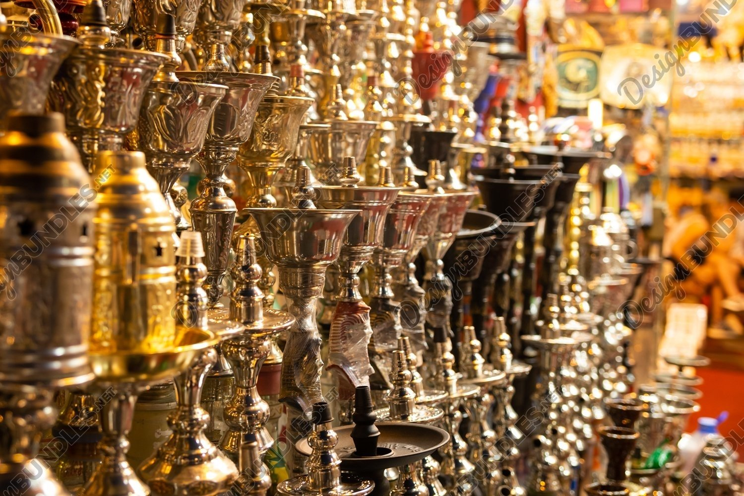 Photo of a group of hookahs in the store example image 1