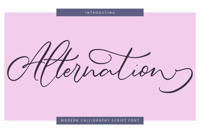 Alternation   Modern Calligraphy Script Font example image 1