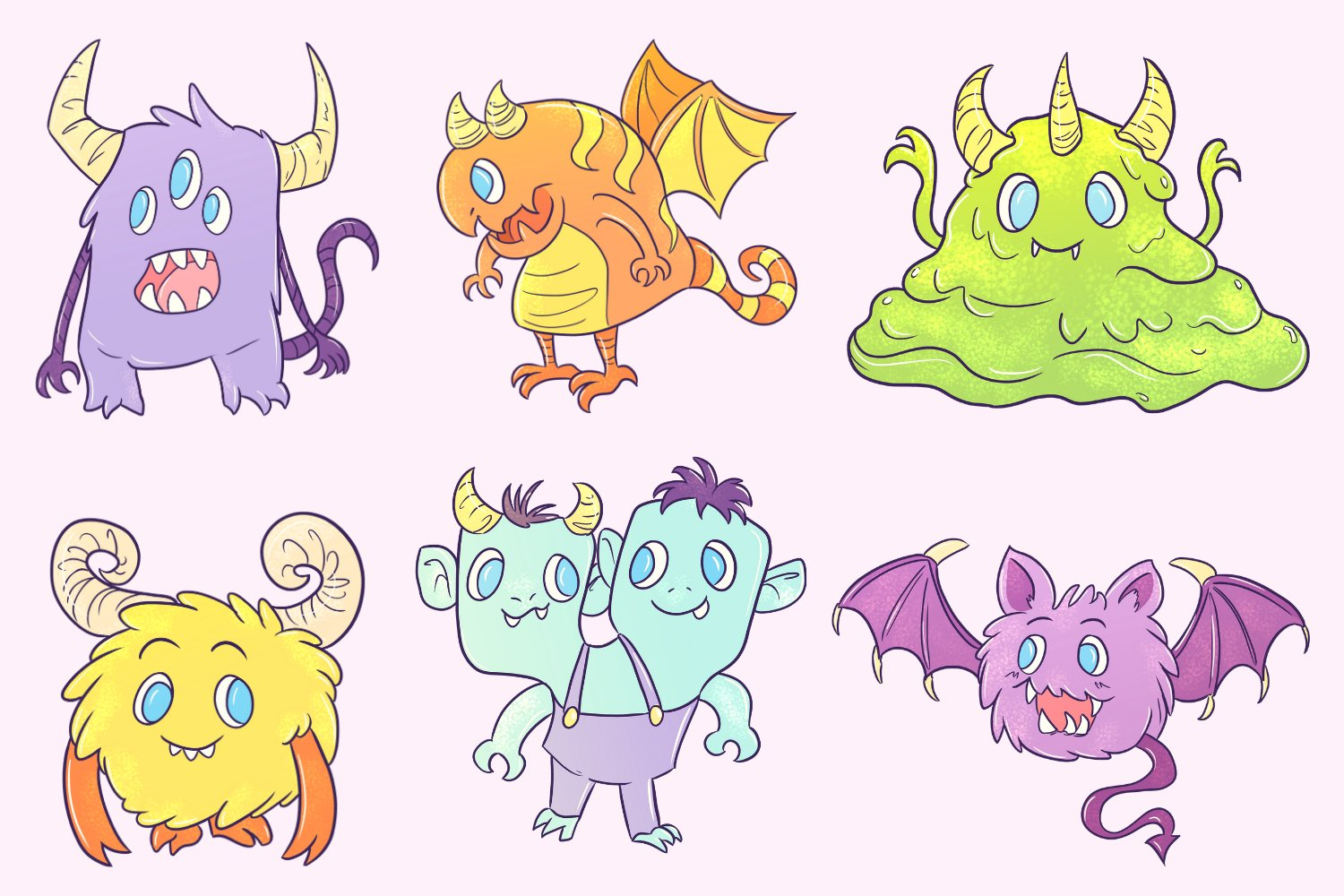 Cute Monster Illustrations example image 2