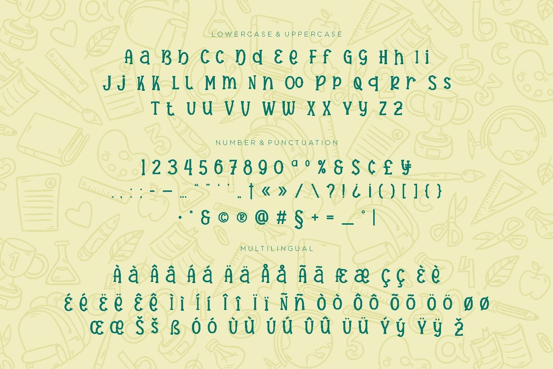 Hanebira - School Display Font example image 3
