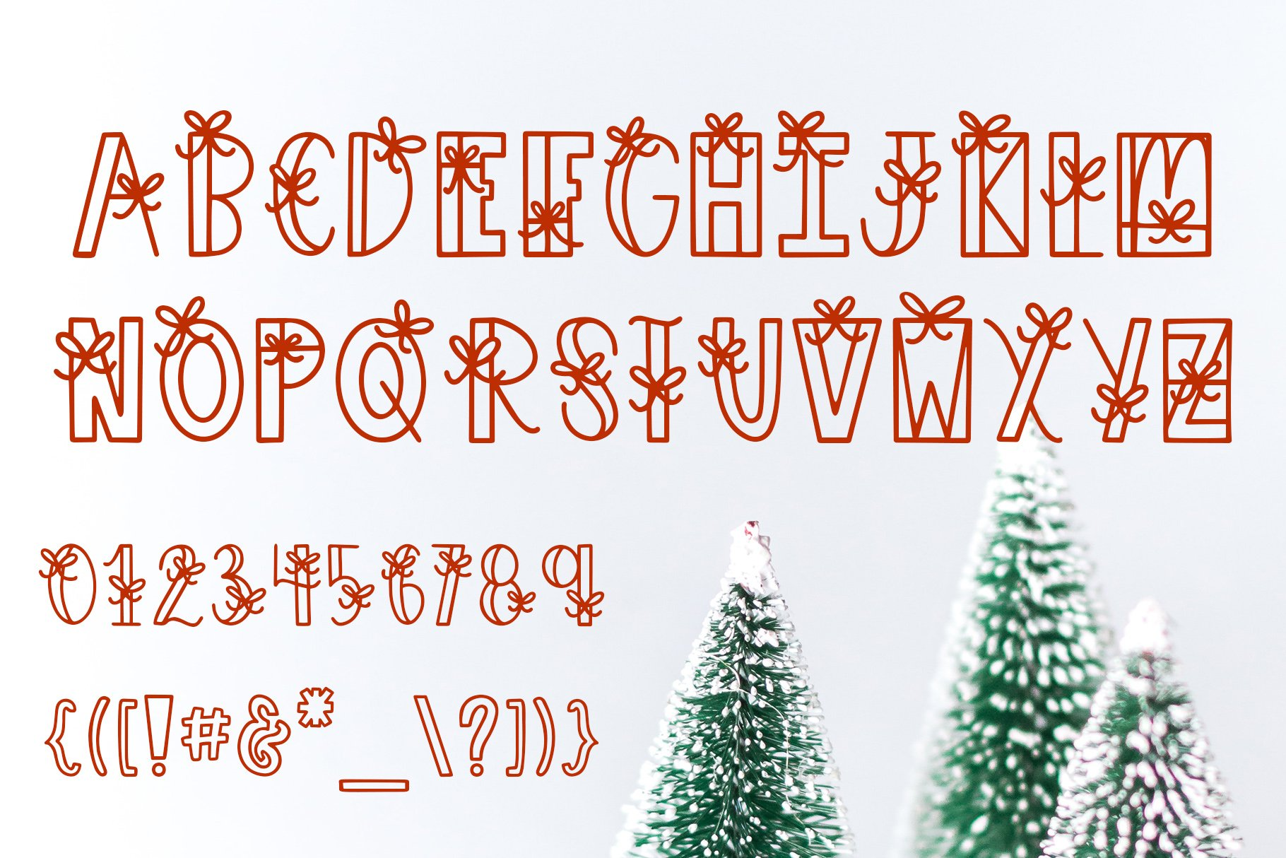 Under The Tree, Christmas Present Font example image 7