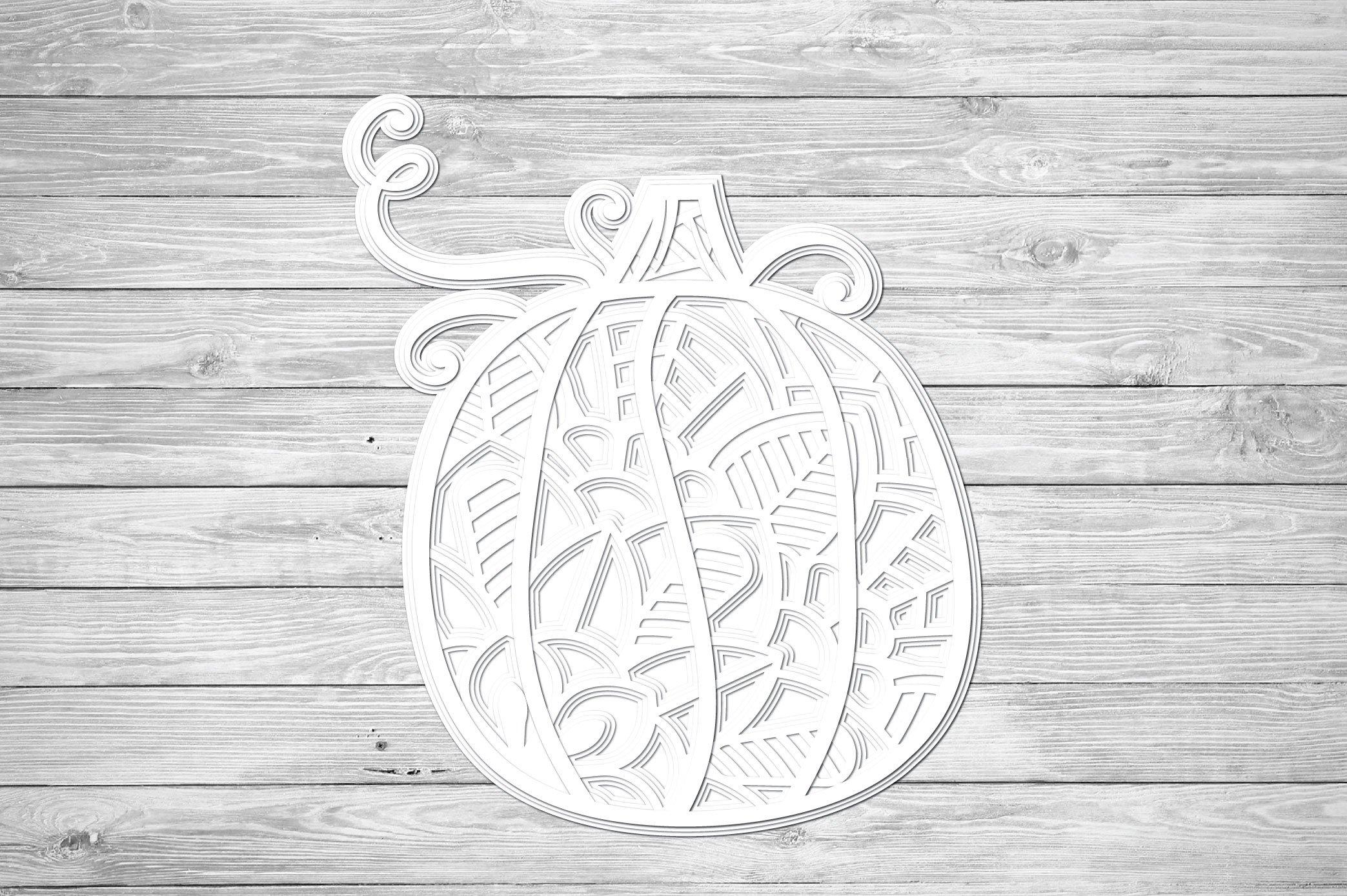 3D Layered Pumpkin SVG | Fall Multi Layer| Autumn Cut File example image 3