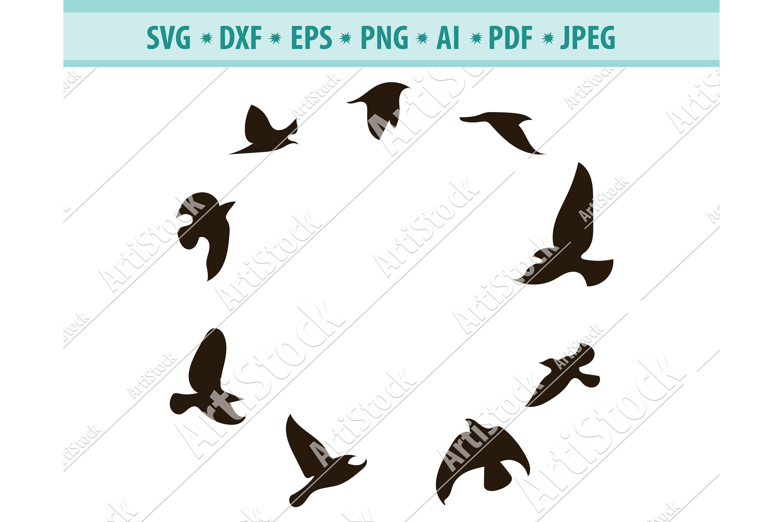 Bird flying SVG PNG DXF digital cutting filebird svgfolk style birdlino print style birdbird  svgflying birdwild birdcommercial use