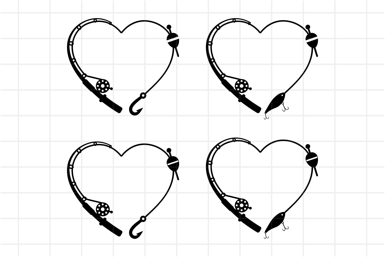 Download Heart Fishing Rod Svg Cut File Gift Idea For Fisherman 666210 Cut Files Design Bundles