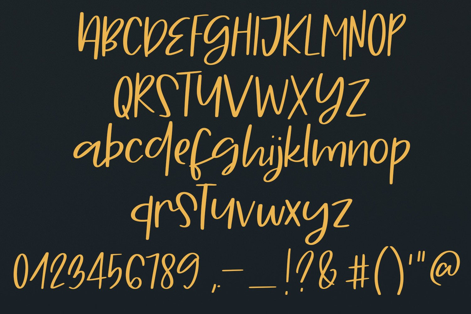 Hello Forty - A Hand-Written Script Font example image 6