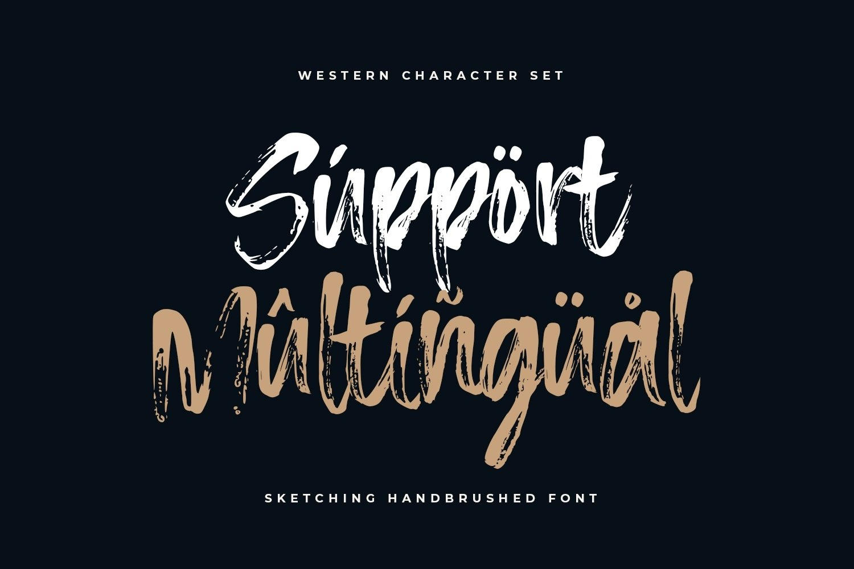 Sketching - The Handbrushed Typeface example image 7