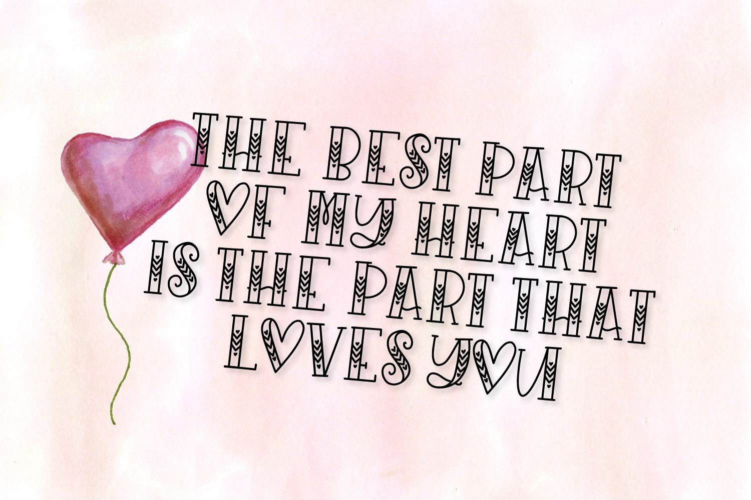 Sugarbug - A Hand Lettered Heart Font example image 8