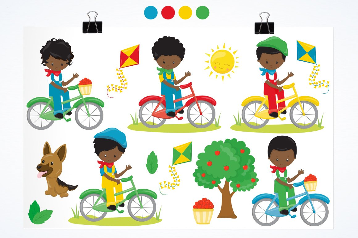 African American Boys on bikes example image 2