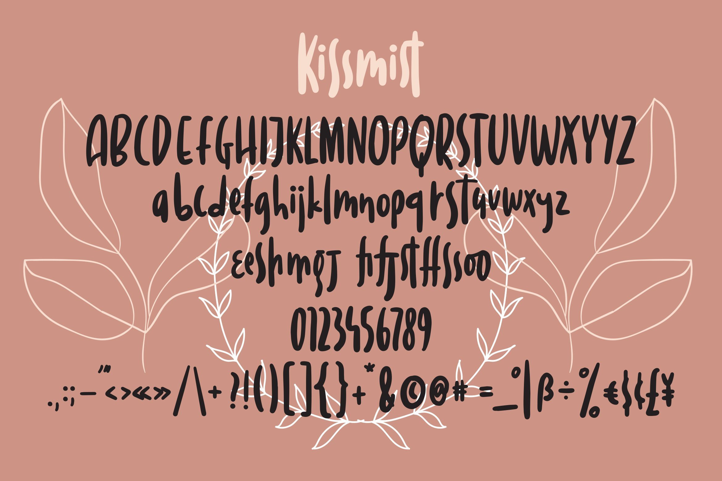 Kissmist - Fancy Sans Font example image 4
