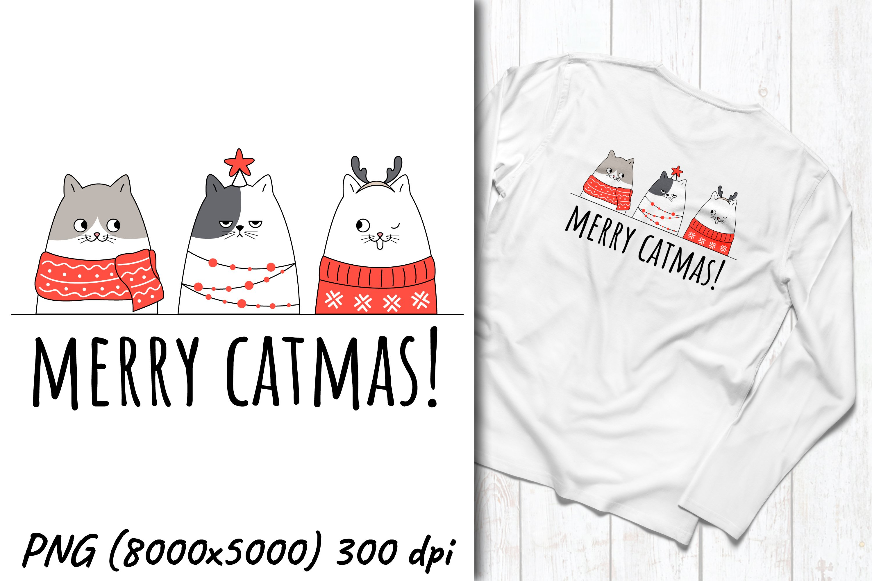 Christmas sublimation design   Christmas cats pun   Merry ca