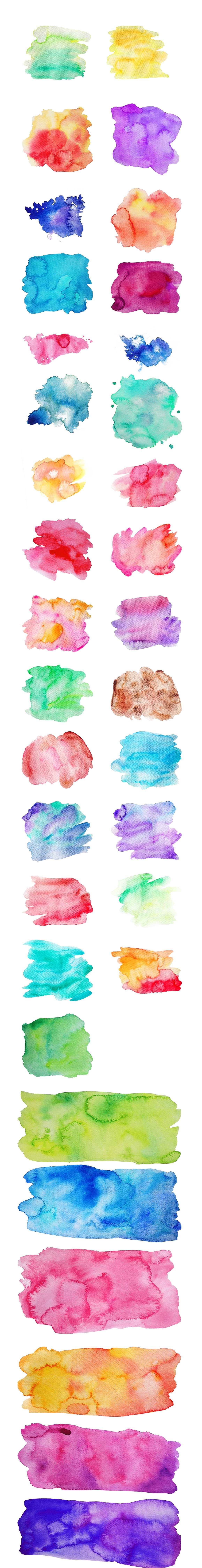 Vector & JPG Watercolor Textures & Photoshop Effect Styles example image 5