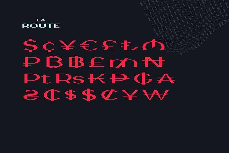 La Route Typeface example image 4