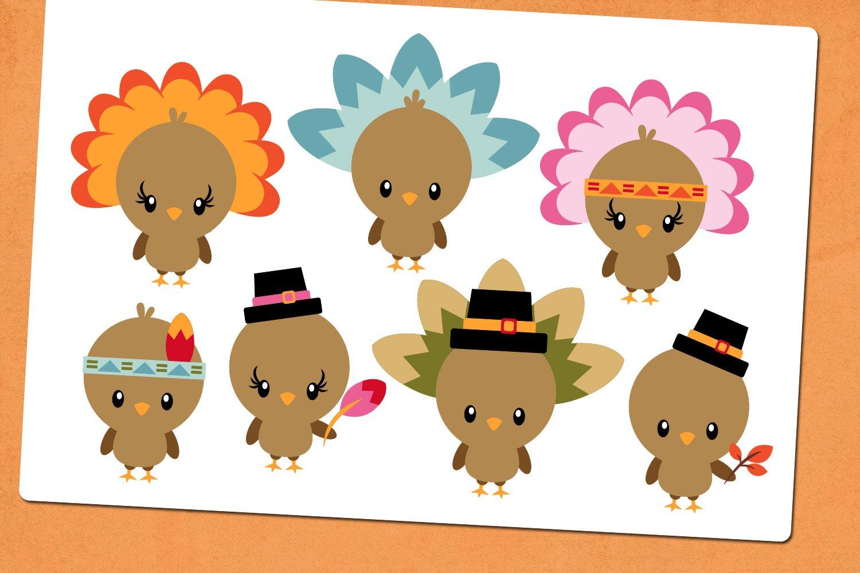 Thanksgiving Turkey Illustrations Clip Art example image 3
