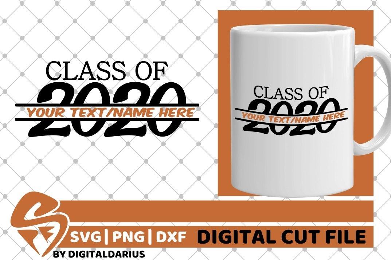 Class Of 2020 svg, Teacher, Grad svg, Graduation, Monogram example image 2