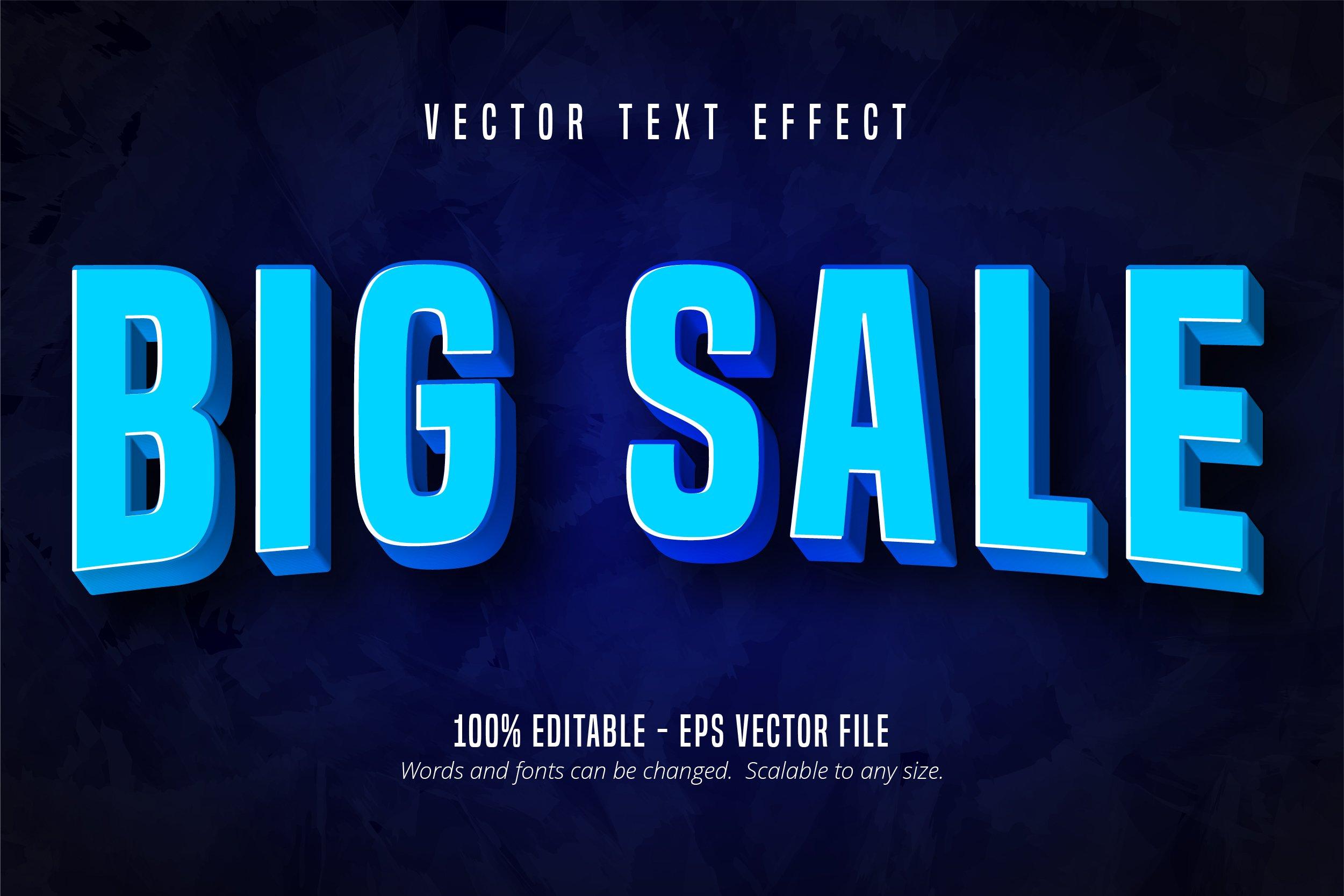 Big sale editable text effect example image 1