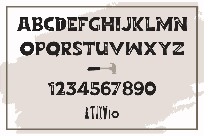 Repairman - a Fun Tool Font example image 2