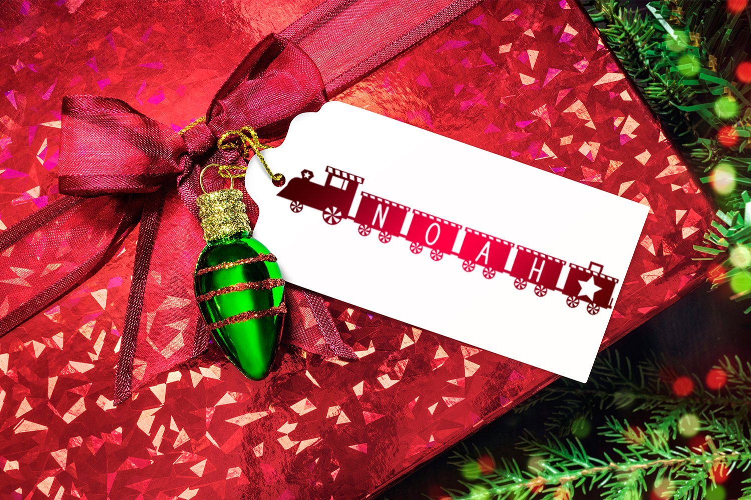 Christmas Train - A Fun Holiday Font example image 3