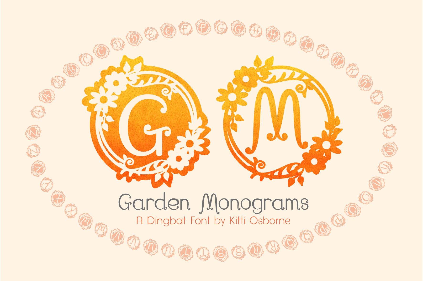 Garden Monograms - Font example image 1
