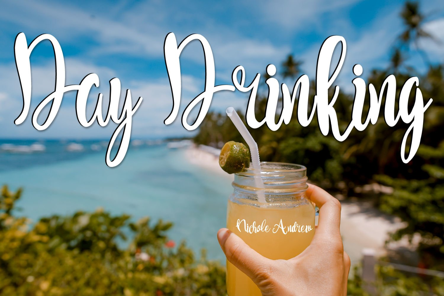 Day Drinking - A Handwritten Script Font example image 1