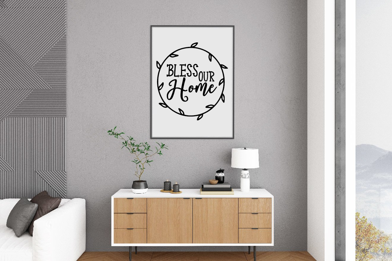 Bless Our Home SVG Cut File example image 4