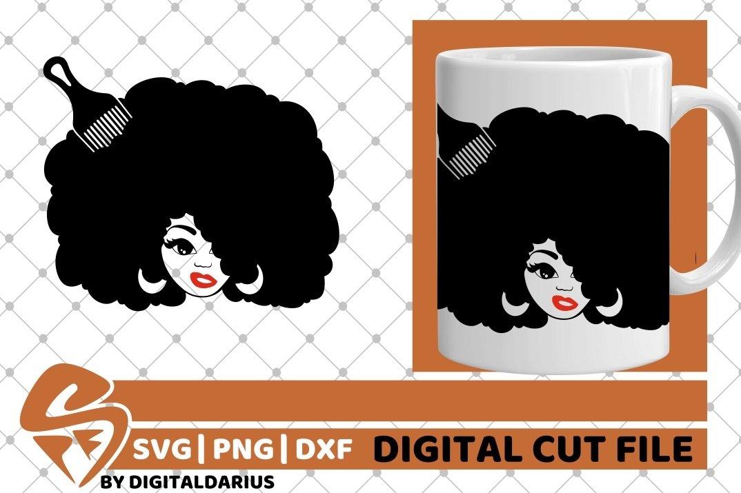 Black Woman svg, Afro Hair svg, Hairdresser svg, Melanin svg example image 2