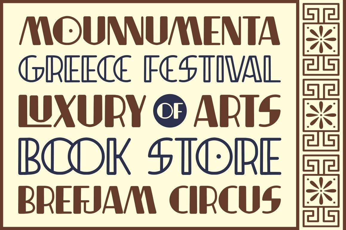 Indentia - Art Deco Typeface example image 4