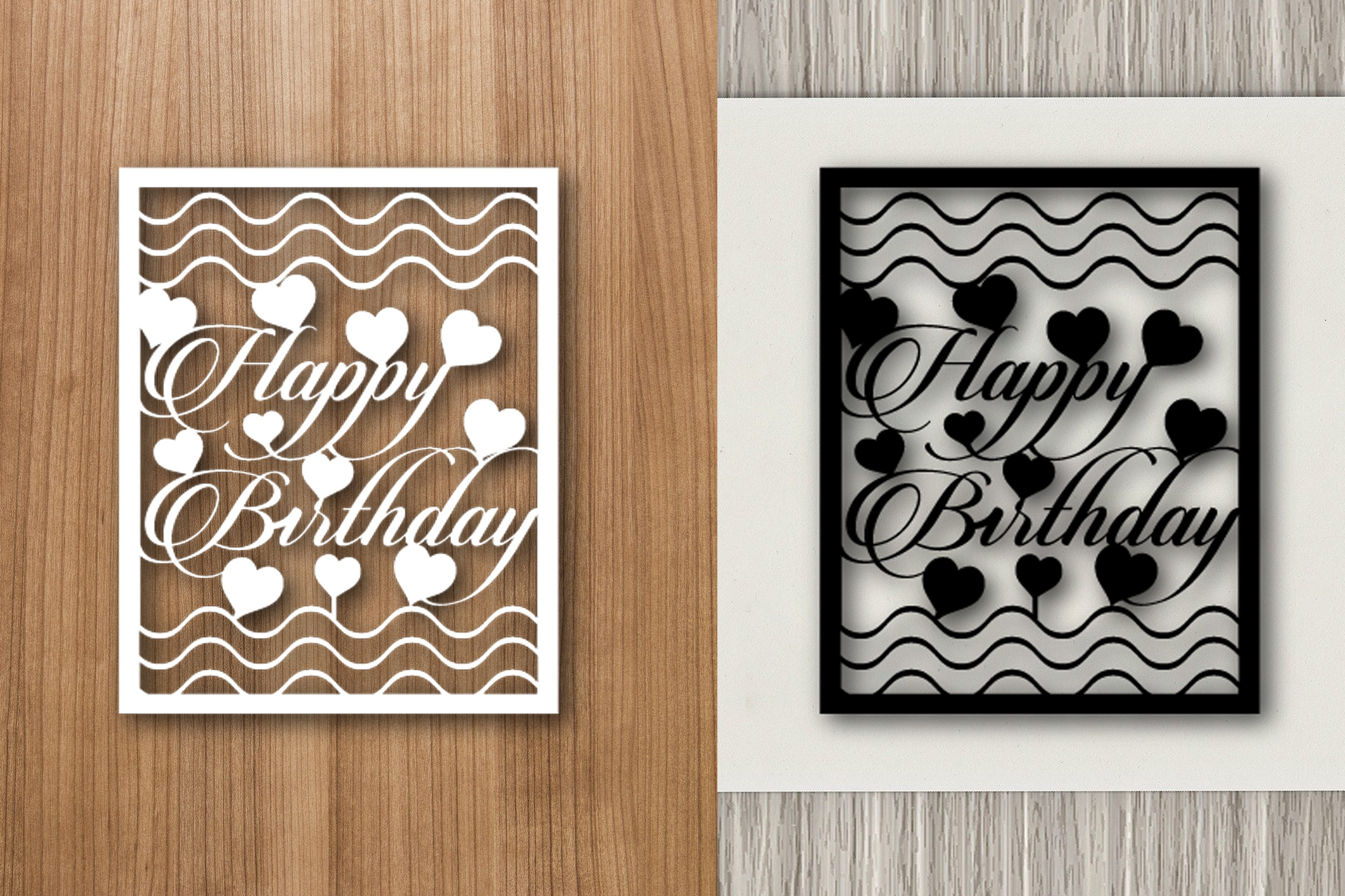Happy Birthday Paper Template Design example image 1