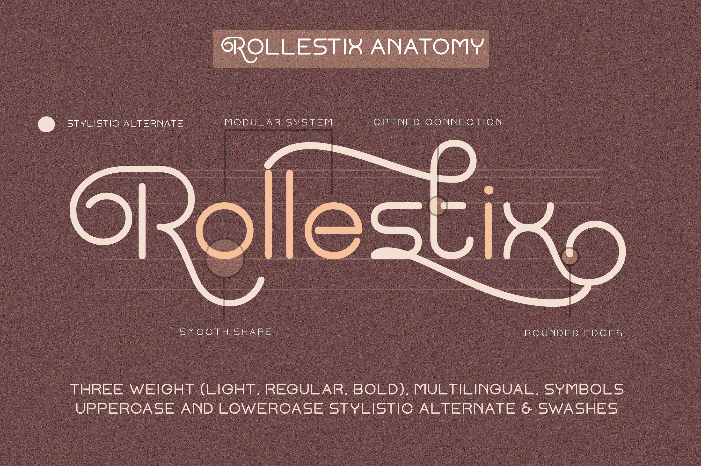 Rollestix - Rounded & Elegant sans serif example image 4