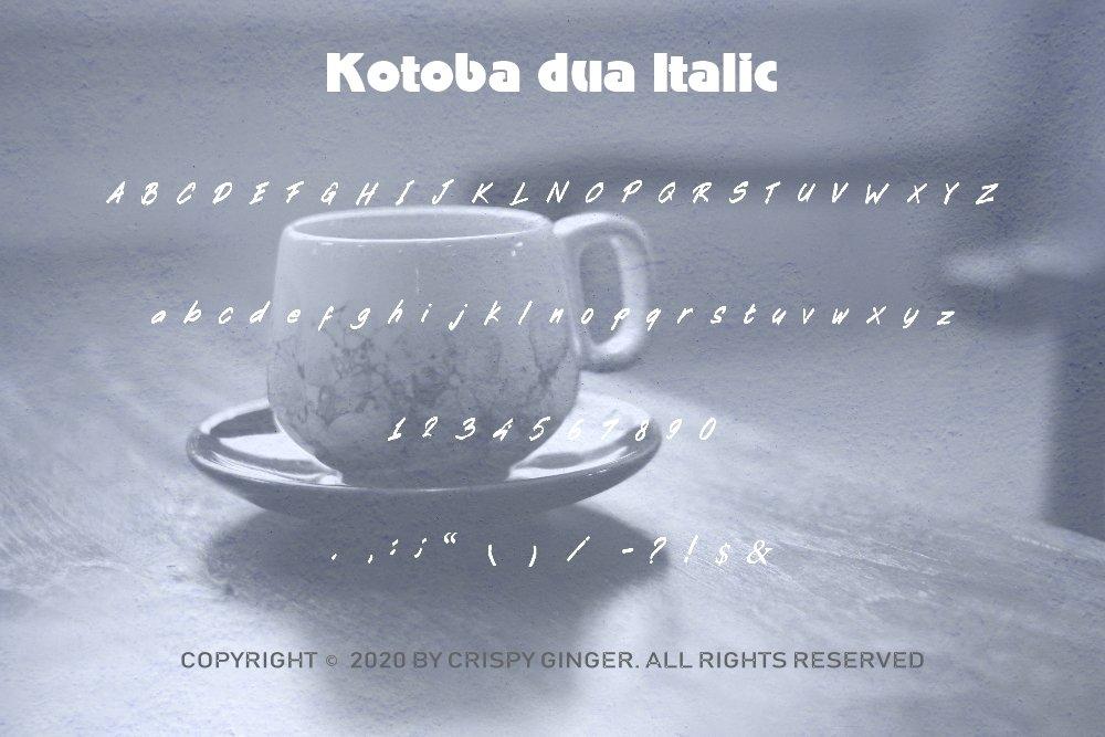 Kotoba Dua - 22 Font styles and 150 Swashes example image 7