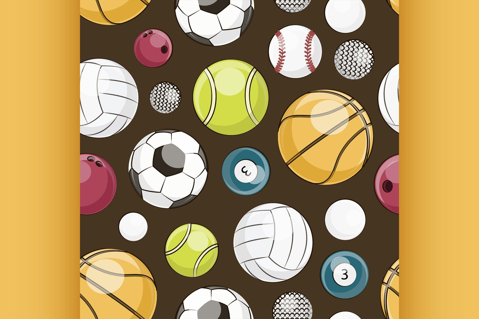 Sport Balls Set pattern example image 1
