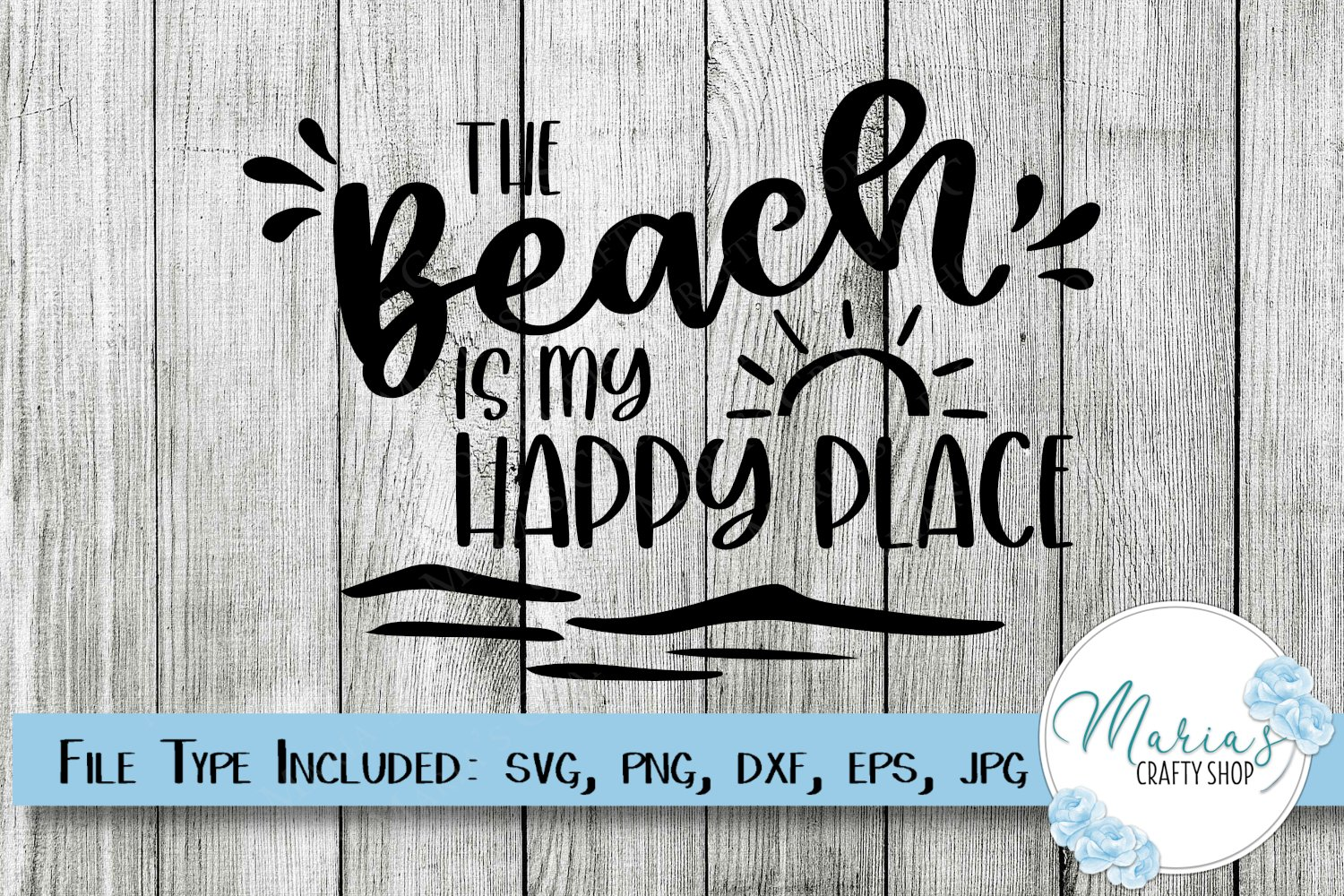 The Beach Is My Happy Place Cut Vinyl Sticker//Decal