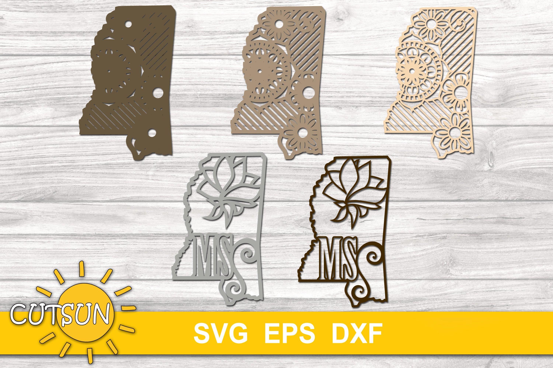 3d Layered Mississippi State Mandala Svg 5 Layers 654964 Cut Files Design Bundles