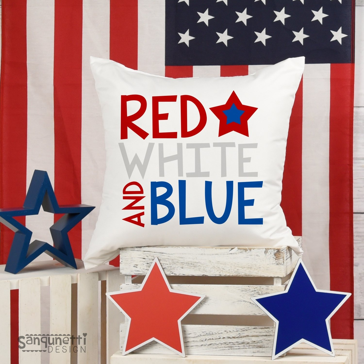Red White and Blue SVG, 4th of July and Patriotic example image 2